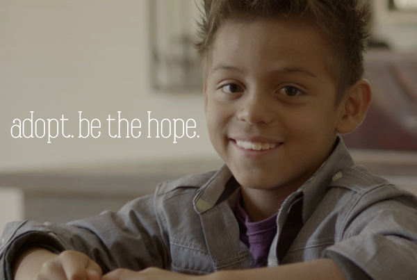 """ADOPT. BE THE HOPE."""