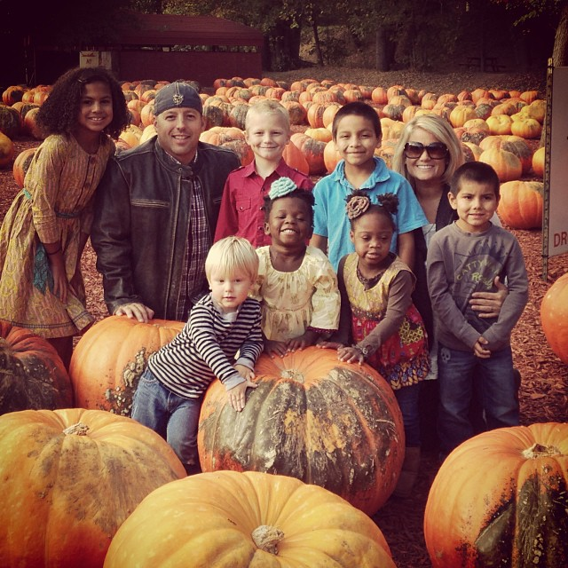 Lott family at the pumpkin patch